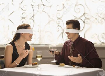 A Blindfolded Romantic Dinner Date for 2