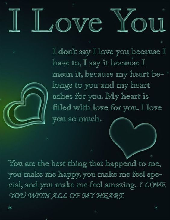 To say to your girlfriend poems Love Poems