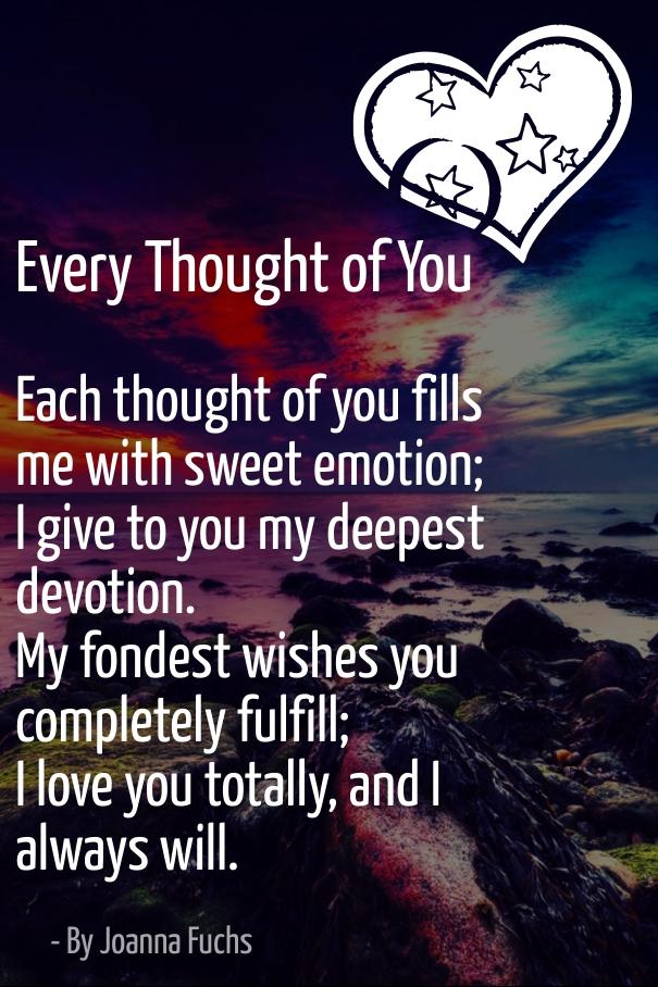 Short sweet romantic poems for her